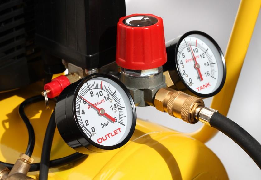 Pressure meters closeup